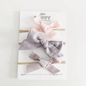 LITTLE POPPY CO Girl's Feb. '17 Inspired Bow Set